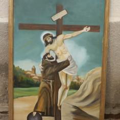 Tablou rastignirea lui Isus, reducere - Icoana cu foita de aur