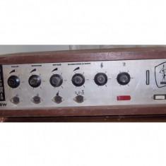 Amplificator SIGMA DOINA 50W tuburi lampi 2 X EL34 stare generala buna - Amplificator audio, 41-80W