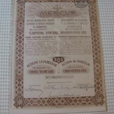 ACTIUNE MERCUR 1922, Romania 1900 - 1950
