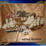 Flota vintage, machete din lemn, materiale textile si metal