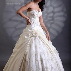 Rochie Mireasa Mirandi ivory, cu trena - Rochie de mireasa printesa