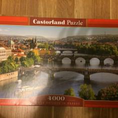Puzzle castorland cu 4000 de piese, Vltava Bridges in Prague, Carton, 2D (plan), Unisex