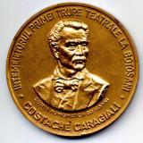 MEDALIE COSTACHE CARAGIALI INTEMEIETORUL PRIMEI TRUPE TEATRALE LA BOTOSANI 150 ANI DE TEATRU ROMANESC LA BOTOSANI 1838-1988 - Medalii Romania