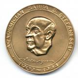 Medalii Romania - MEDALIE ACADEMICIAN SABBA S STEFANESCU 1902-1994 COMITETUL NATIONAL DE GEODEZIE SI GEOFIZICA SOCIETATEA ROMANA DE GEOFIZICA