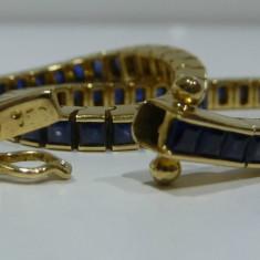 Bratara din aur, 14 carate - Bratara aur 18k cu Sapphire