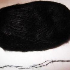 Fir de tricotat sau crosetat, mohair natural cu matase fbuna calitate, negru