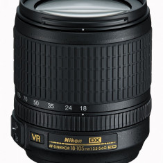 Obiectiv DSLR Nikon AF-S DX NIKKOR 18-105mm f/3.5-5.6G ED VR sigilat cu garantie, All around, Autofocus, Nikon FX/DX, Stabilizare de imagine