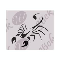 Tapet - Scorpion_Tatuaj de perete_Sticker Decorativ_WALL-551-Dimensiune: 25 cm. X 22.5 cm. - Orice culoare, Orice dimensiune