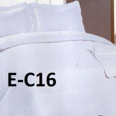 Cuvertura de pat bumbac brodat EC16