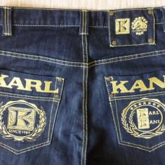 Bermude barbati - Blugi hip hop Karl Kani Champions '89; marime 30, vezi dimensiuni exacte; ca noi