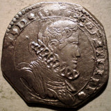G.040 ITALIA SICILIA OCUPATIE SPANIOLA FILIP IV 4 TARI 164(3) ARGINT 10, 4g - Moneda Medievala, Europa