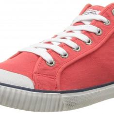 Adidasi originali PEPE JEANS-adidasi inalti-tenisi barbati-panza-cutie-40, 43, 44, Culoare: Rosu, Textil