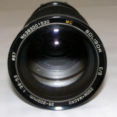 Obiectiv Soligor 35-200mm 1:3.8-5.3 montura Minolat M/MD pentru piese/reparat - Obiective RF (RangeFinder)