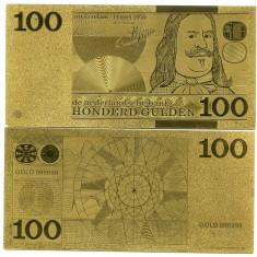 OLANDA- 100 GULDENI- AUR 24K- FANTASY- UNC!!, An: 2015