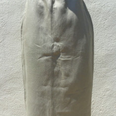 Fusta din in Escada by Margaretha Ley 100% originala, Marime: 38, Culoare: Khaki, 3/4, Dreapta