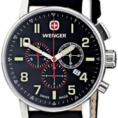 Wenger Men's 01 1243 104 | 100% original, import SUA, 10 zile lucratoare a32207 - Ceas barbatesc Wenger, Quartz