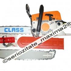 Drujba benzina ieftina 52cc 3 CP CLASS noua + lama + lant REZERVA, 2000-2300, 36-40, 31-40