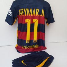 Set echipament fotbal - Echipamente sportive copii FC.Barcelona Neymar Jr compleu fotbal model nou 2016