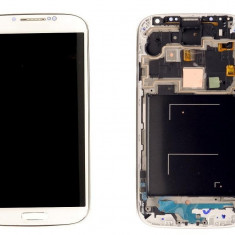 Ansamblu LCD Display Laptop Touchscreen touch screen Samsung Galaxy S4 I9500 White Alb cu rama ORIGINAL - Display LCD