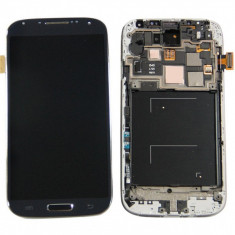 Display LCD - Ansamblu LCD Display Laptop Touchscreen touch screen Samsung Galaxy S4 I9500 Black Negru cu rama ORIGINAL