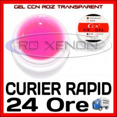 GEL UV ROZ TRANSPARENT CCN 15ML - CONSTRUCTIE MANICHIURA, UNGHII FALSE GEL - Gel unghii Sina