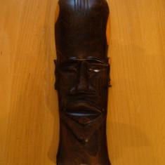 Arta din Africa - Masca africana originala din Congo, lucrata manual, din lemn nobil de abanos