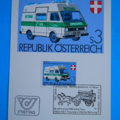 AUSTRIA 1981 – AMBULANTA, ILUSTRATA MAXIMA Z31, Transporturi