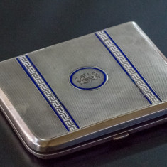 Port Tigaret - Argint cu email 1925