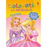 Colorati cu Abtibilduri, Nr.1 - Printese - Carte de colorat