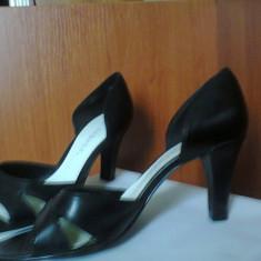 Pantofi dama George - Sandale ( pantofi ) dama, negre, marimea 7.5 (echivalent 38.5), toc 8