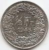 Monede Straine, Europa, An: 1945 - Elvetia 1/2 Franc 1945 Argint 2.5g/0.835 KM-23