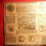 Cartonas de colectie - Foaie veche cu Povestea Romantata a Dolarului