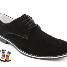 Pantofi barbati Suave PIELE naturala intoarsa romanesti, Piele intoarsa