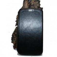 Husa Alcatel Pop C7 OT 7040 piele ecologica neagra - Husa Telefon Alcatel, Negru