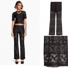 Pantaloni dama H&m, Lungi, Dantela - HM Espana, Pantaloni DANTELA