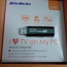 TV-Tuner PC Avermedia, DVB-T, USB, Extern (necesita PC) - TV TUNER USB DVB-T AVER MEDIA AVER TV VOLAR HD NOU