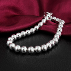 Bratara argint - Bratara margele argint 925; 20.5 cm lungime