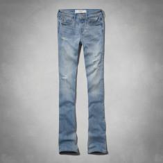 ABERCROMBIE & FITCH BLUGI Zoe Boot Mid Rise Jeans - Blugi dama Abercrombie & Fitch, Marime: 28, Culoare: Bleu, Evazati, Lungi, Normal
