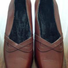 Pantof dama Made in Italia din piele marimea 37 foarte frumos - Super Pret, Culoare: Din imagine, Piele naturala