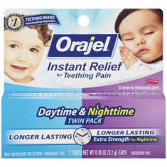 Baby Orajel Twinpack - Noapte si Zi - Gel Anestezic Bebelusi/Copii Durere Dinti - cutie 2 tuburi