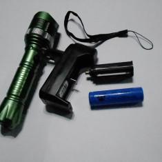 CEA MAI PUTERNICA MINI Lanterna Jetbeam cu LED CREE + ZOOM + LUPA +3Faze + INCARCATOR CASA+ Acumulator 18650 Produs NOU, +adaptor baterii + curelusa mana
