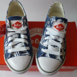 "Tenisi Dama Lee Cooper ""Print Stride"" Blue - Model 2015 -, Marime: 37, Culoare: Din imagine, Textil"