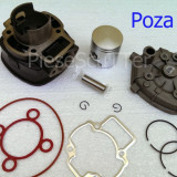 Kit Cilindru / Set motor + Piston + Segmenti + CHIULOASA Scuter Piaggio / Piagio NRG MC2 / NRG MC3 / NRG Power ( 5 colturi / 80cc racire apa )