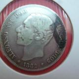SPANIA 2 PESETAS 1882 ARGINT, Europa