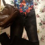 Jeans/Blugi Bershka - Blugi dama, Marime: 34, Culoare: Negru