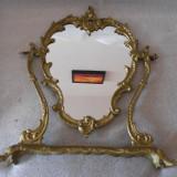 VALOROASA OGLINDA BAROC TOALETA STATUETA BRONZ DORE CRISTAL MARE 1800-1900 - Mobilier