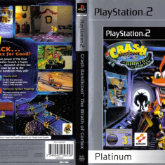 Joc original Crash Bandicoot-The Wrath Of Cortex pentru consola PlayStation2 PS2 - Jocuri PS2 Sony, Actiune, Toate varstele, Multiplayer