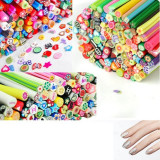 Batoane fimo pentru unghii, diverse modele, set de 10 batonase Nail Art 3D - Unghii modele