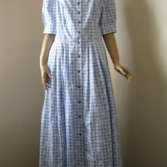 Rochie tiroleza, bavareza, dirndl original, rochie lunga cu nasturi 44 ( L ) - Costum populare, Bleu