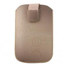 Husa Telefon Atlas, Maro, Piele Ecologica, Toc - Toc Lux iPHONE 5/5S/5C Bej